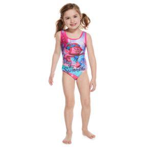 """Girls 4-6x DreamWorks Trolls Poppy """"Free To Sparkle"""" Swimsuit"""
