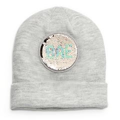 Mudd® 'Bae' & 'Boss' Reversible Sequin Beanie