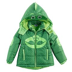 Toddler Boy PJ Masks Gekko Fleece-Lined Hooded Heavyweight Jacket