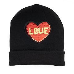 Mudd® 'Love' & 'XOXO' Reversible Sequin Beanie