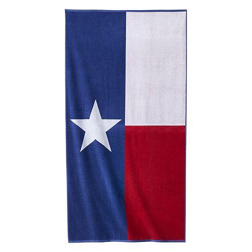 Celebrate Summer Together Texas Flag Beach Towel