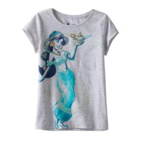 Disney's Aladdin Girls 4-7 Jasmine Glitter Tee by Jumping Beans®