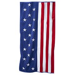 Celebrate Summer Together US American Flag Beach Towel