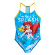 "Disney's The Little Mermaid Girls 4-6x Ariel & Flounder ""Make A Splash"" Swimsuit"