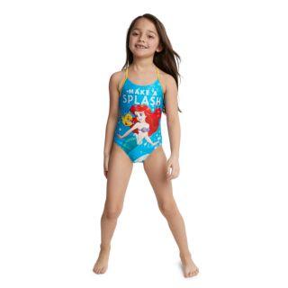 "Disney's The Little Mermaid Girls 4-6x Ariel & Flounder ""Make A Splash"" Swimsuit"