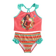 Disney's Elena of Avalor Girls 4-6x 2 pc Tankini & Scoop Bottoms Swimsuit Set