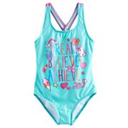 Girls 4-6x Jojo Siwa 'Dream Believe Achieve' One Piece Swimsuit