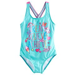 Girls 4-6x Jojo Siwa 'Dream Believe Achieve' One Piece Swimsuit