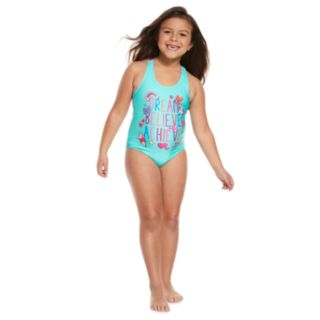 """Girls 4-6x Jojo Siwa """"Dream Believe Achieve"""" One Piece Swimsuit"""