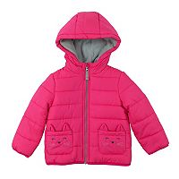 Toddler Girl Carter's Heavyweight Kitty Cat Puffer Jacket