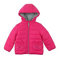 Toddler Girl OshKosh B'gosh® Heavyweight Kitty Cat Puffer Jacket