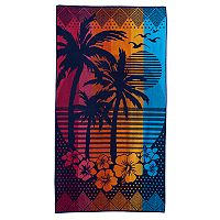 Celebrate Summer Together Palm Sunset Beach Towel
