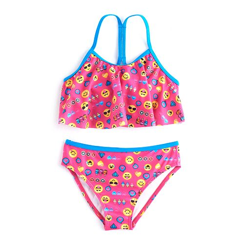 Girls 4-6x Emoji 2-pc. Bikini Swimsuit Set