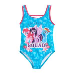 "Girls 4-6x My Little Pony ""Friendship Squad"" One Piece Swimsuit"