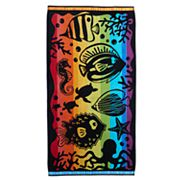 Celebrate Summer Together Rainbow Fish Beach Towel