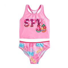 Girls 4-6x Shopkins 2 pc 'Venice Beach SPK' Bikini Swimsuit
