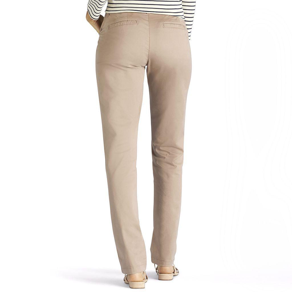 Women's Lee Straight-Leg Tailored Chino Pants