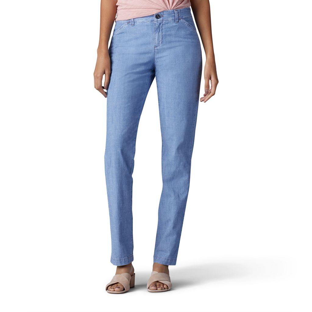 Women's Lee Slim Straight-Leg Tailored Chino Pants