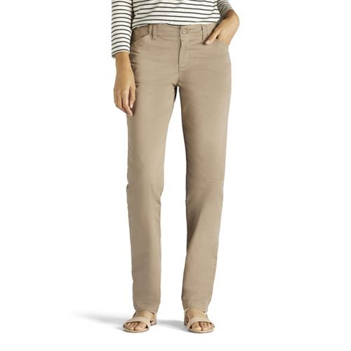 Women's Lee Slim Straight-Leg Tailored Chino Pants