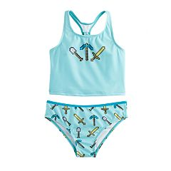 Girls 4-6x Minecraft 2 pc Tankini Swimsuit
