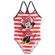 Disney's Minnie Mouse Girls 4-6x Striped One Piece Swimsuit