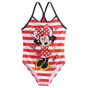 Disney's Minnie Mouse Girls 4-6x Striped One Piece Swimsuit