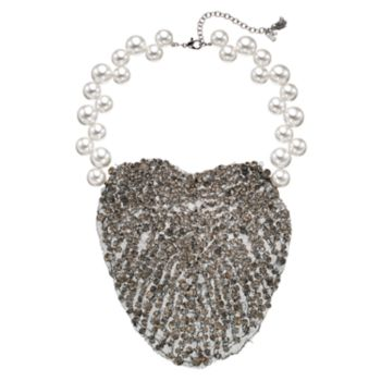 Simply Vera Vera Wang 10th Anniversary Mesh Statement Necklace