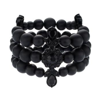 Simply Vera Vera Wang 10th Anniversary Beaded Multi Strand Stretch Bracelet