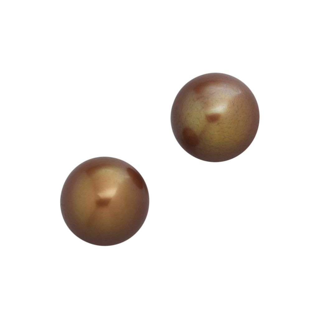 14k Gold 9-mm Dyed Freshwater Cultured Pearl Stud Earrings