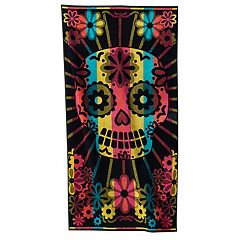Celebrate Summer Together Sugar Skull Beach Towel