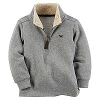 Toddler Boy Carter's 1/4-Zip Sherpa Fleece Pullover