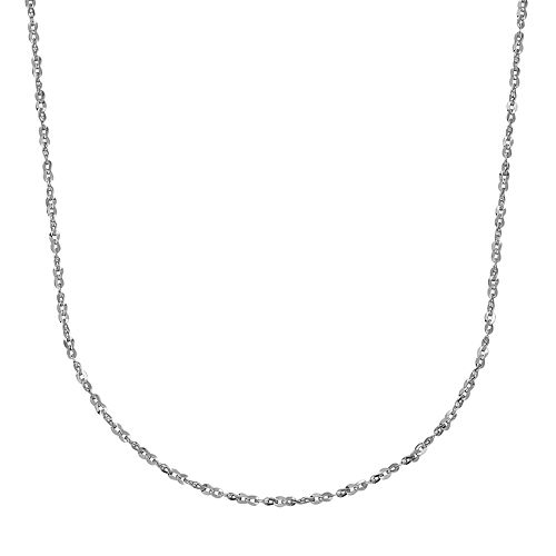 Everlasting Gold 14k White Gold Twist Link Chain - 18 in.