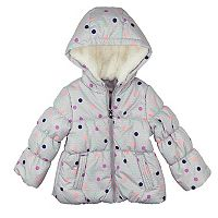 Toddler Girl OshKosh B'gosh® Heavyweight Fleece-Lined Polka-Dot Jacket