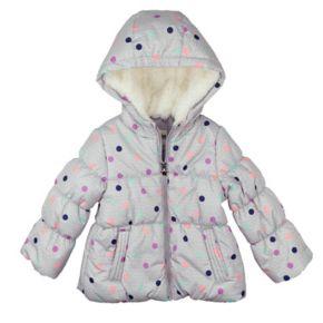 Toddler Girl OshKosh B'gosh® Heavyweight Fleece-Lined Polka-Dot Jacket