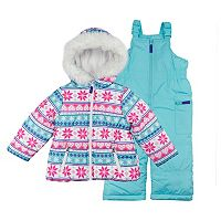 Toddler Girl OshKosh B'gosh® Heavyweight Fairisle Jacket & Bib Snow Pants Set
