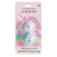 Simple Pleasures 2-pk. Raspberry Cream Unicorn & Rainbow Lip Balm Pods
