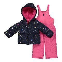 Toddler Girl OshKosh B'gosh® Star Print Jacket & Bib Snow Pants Set