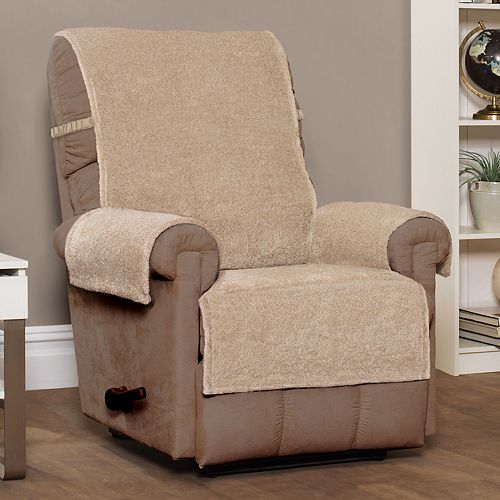 Jeffrey Home Shaggy Waterproof Recliner Slipcover