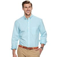 Big & Tall Men's IZOD Essential Classic-Fit Striped Premium Stretch Button-Down Shirt