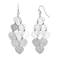 LC Lauren Conrad Openwork Leaf Nickel Free Kite Earrings