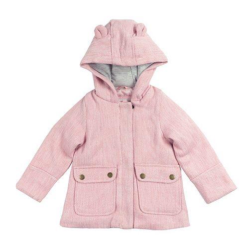 Toddler Girl Carter's Midweight Lurex Faux Wool Coat