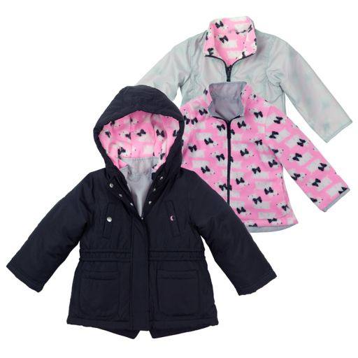 Toddler Girl OshKosh B'gosh® Heavyweight Scottie Dog Fleece-Lined 4-in-1 Systems Jacket