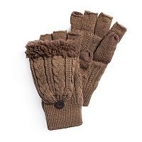 Men's MUK LUKS Fingerless Flip Mittens