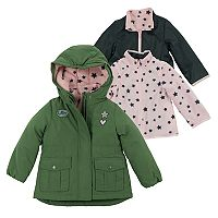 Toddler Girl OshKosh B'gosh® Heavyweight Fleece-Lined 4-in-1 Systems Jacket