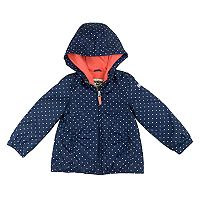 Toddler Girl OshKosh B'gosh® Midweight Polka-Dot Fleece-Lined Jacket