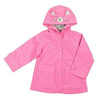 Toddler Girl Carter's Kitty Cat Polka-Dot Midweight Rain Jacket