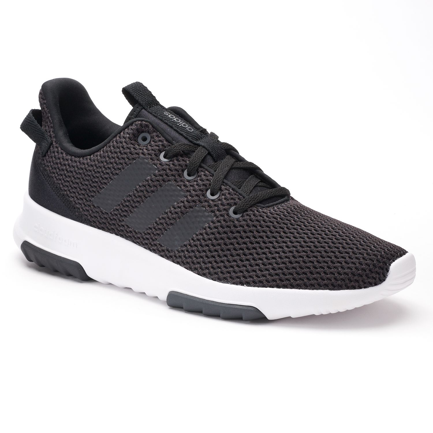 adidas NEO Cloudfoam Racer TR Men\u0027s Sneakers. Black White White