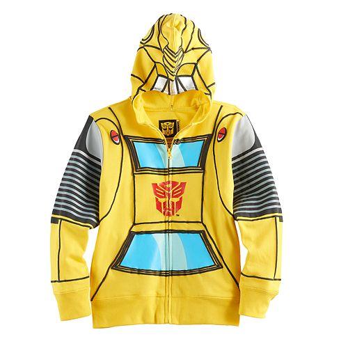 Boys 4-7 Transformers Mask Zip Hoodie