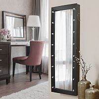 New View Marquee Wall, Floor & Over-The-Door Mirror Jewelry Armoire