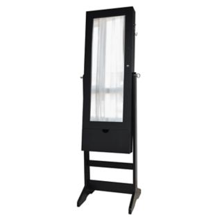 New View Wall, Floor & Over-The-Door 3-in-1 Mirror Jewelry Cabinet